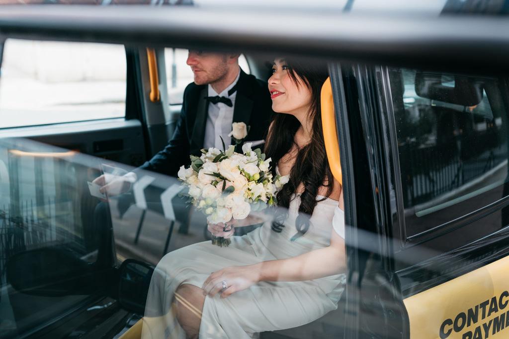 london taxi wedding