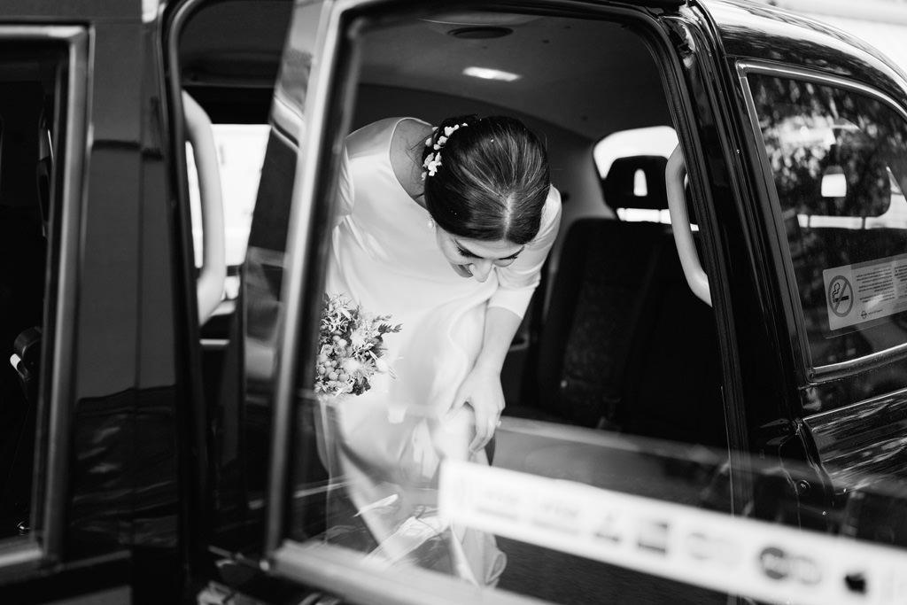 bride black cab