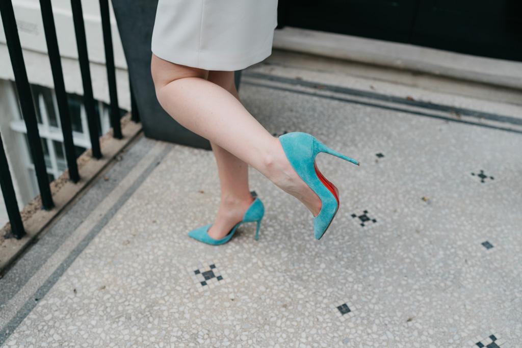 blue louboutin wedding shoes