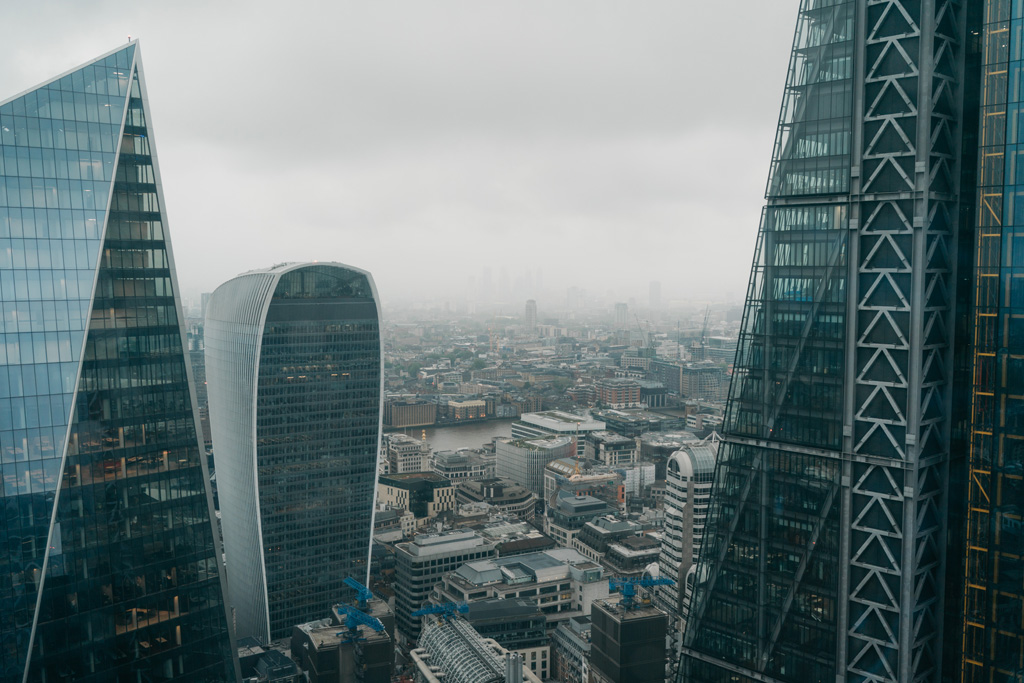 view from gherkin london