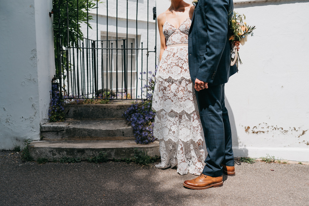 modern elopement fashion