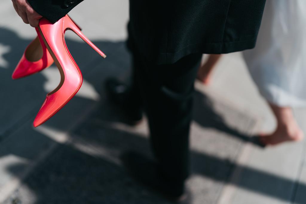 pink louboutin wedding shoes