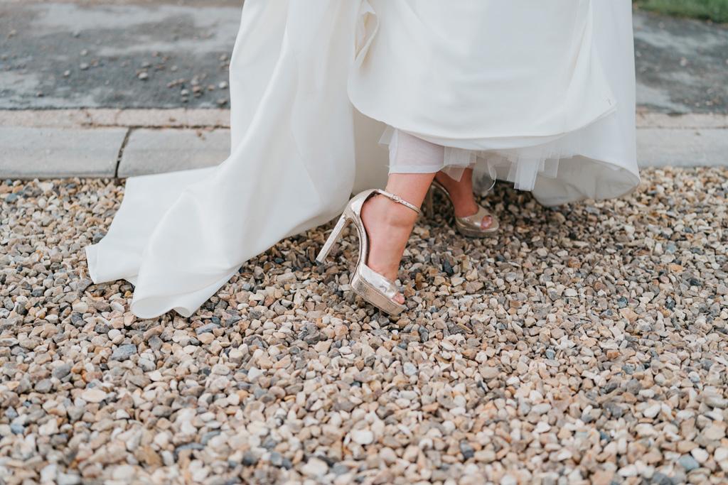 gold wedding platform shoes